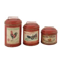 Attractive Set of 3 Metal Canisters