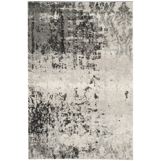 Safavieh Retro Modern Abstract Light Grey/ Grey Rug (3' x 5')