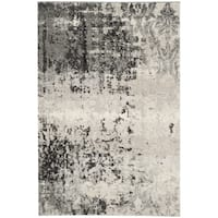 Safavieh Retro Modern Abstract Light Grey / Grey Distressed Rug - 3' x 5'