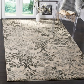 Safavieh Retro Modern Damask Cream/ Grey Distressed Rug (4' x 6')