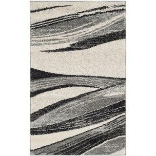 Safavieh Retro Modern Chic Abstract Light Grey/ Ivory Rug (3' x 5')