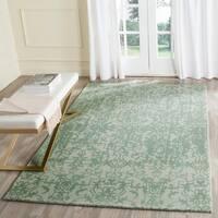 Safavieh Handmade Restoration Vintage Grey / Turquoise Wool Distressed Area Rug - 4' x 6'