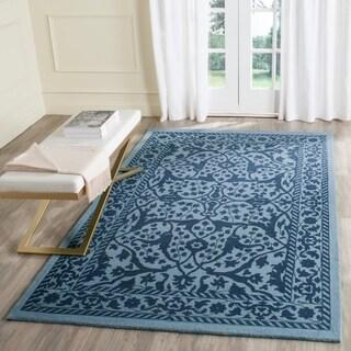 Safavieh Handmade Restoration Vintage Blue/ Dark Blue Wool Rug (4' x 6')