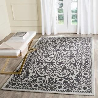 Safavieh Handmade Restoration Vintage Silver/ Grey Wool Rug (4' x 6')