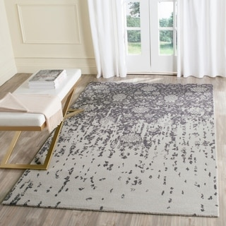 Safavieh Handmade Restoration Vintage Silver/ Grey Wool Distressed Rug (4' x 6')
