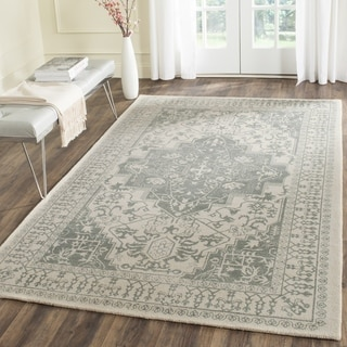 Safavieh Handmade Restoration Vintage Oriental Grey / Ivory Wool Rug (4' x 6')