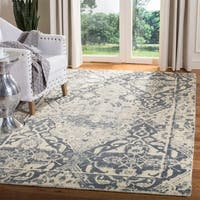 Safavieh Handmade Restoration Vintage Charcoal/ Ivory Wool Distressed Rug - 4' x 6'