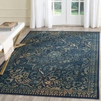 Safavieh Vintage Oriental Blue/ Yellow Distressed Silky Viscose Rug - 4' x 5'7