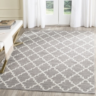 Safavieh Hand-Woven Montauk Grey/ Ivory Cotton Rug (5' x 8')