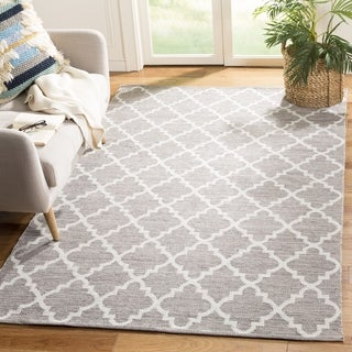 Safavieh Hand-Woven Montauk Grey/ Ivory Cotton Rug (6' x 9')