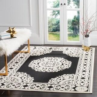 Safavieh Cottage Black/ Cream Rug (5' 3 x 7' 7)