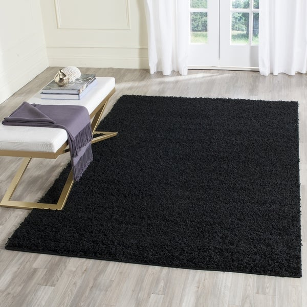 Safavieh Athens Shag Black Area Rug (4' x 6')