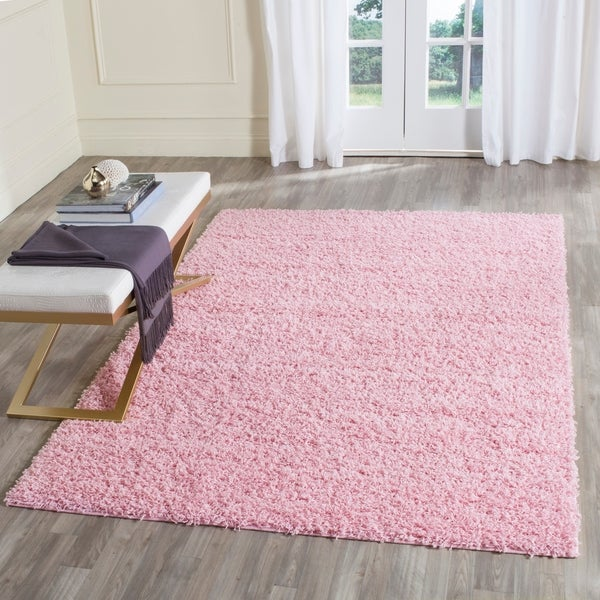 Shop Safavieh Athens Shag Pink Area Rug 4 X 6 On