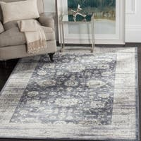 Safavieh Vintage Oriental Dark Grey/ Cream Distressed Rug - 4' x 5'7