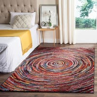 Safavieh Aruba Abstract Multi-colored Rug (6'7 x 9')