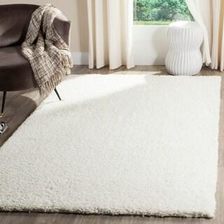 Safavieh Reno Shag White Polyester Rug (5' 1 x 7' 6)