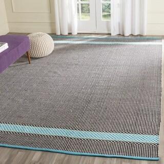 Safavieh Hand-Woven Montauk Turquoise/ Multi Cotton Rug (6' x 9')