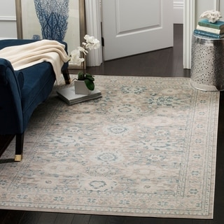 Safavieh Archive Vintage Grey/ Blue Distressed Rug (6' 7 x 9' 2)