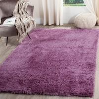 Safavieh Indie Shag Purple Polyester Rug - 4' x 6'
