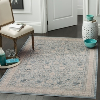 Safavieh Archive Blue/ Grey Rug (6' 7 x 9' 2)