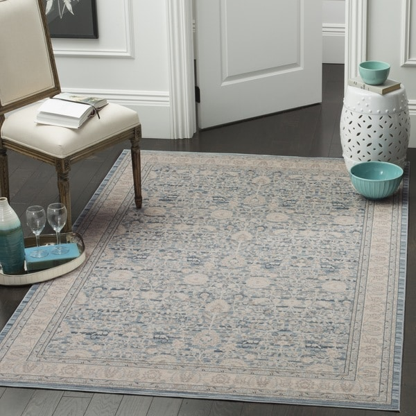 Safavieh Archive Vintage Blue Grey Distressed Rug 6 7