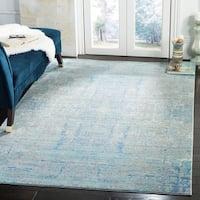 Safavieh Mystique Watercolor Light Blue/ Multi Silky Rug - 6' x 9'