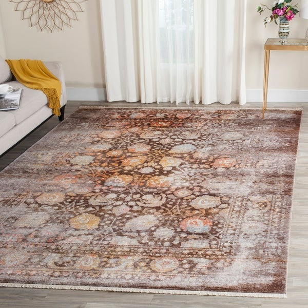 Safavieh Vintage Persian Brown/ Multi Distressed Silky Rug - 4' x 6'