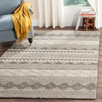 Safavieh Handmade Natura Grey/ Ivory Wool Rug - 6' x 9'