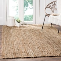 Safavieh Casual Natural Fiber Hand-Woven Natural/ Multi Jute Rug (6' x 9')