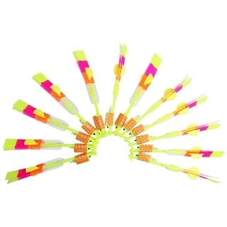 LED Light Arrow Rocket Helicopter Flying Party Toy 12 Pack