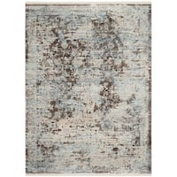 Safavieh Vintage Persian Brown/ Light Blue Distressed Rug - 3' x 5'