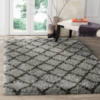Safavieh Indie Shag Trellis Grey/ Dark Grey Polyester Rug - 4' x 6'