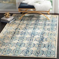 Safavieh Evoke Vintage Floral Ivory / Blue Distressed Rug (6' 7 x 9')