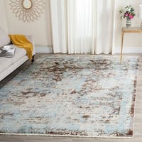Safavieh Vintage Persian Brown/ Light Blue Distressed Rug - 4' x 6'