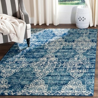Safavieh Evoke Royal Blue/ Ivory Rug (5' 1 x 7' 6)