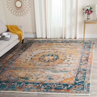 Safavieh Vintage Persian Blue/ Multi Distressed Polyester Rug (4' x 6')