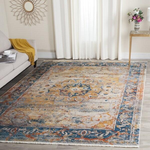 safavieh vintage persian blue multi distressed polyester rug 4u0027 x 6u0027