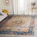 Safavieh Vintage Persian Blue/ Multi Distressed Rug (4' x 6')
