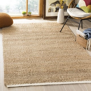 Safavieh Casual Natural Fiber Hand-Woven Ivory / Natural Jute Rug (5' x 8')