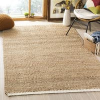 Safavieh Casual Natural Fiber Hand-Woven Ivory / Natural Jute Rug - 5' x 8'
