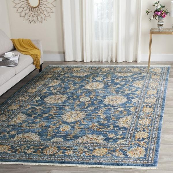 Safavieh Vintage Persian Turquoise/ Multi Distressed Silky Rug (4' x 6')