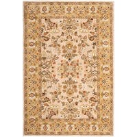 Safavieh Hand-hooked Total Perform Ivory/ Gold Acrylic Rug - 6' x 9'