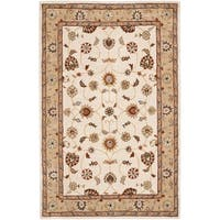 Safavieh Hand-hooked Total Perform Ivory/ Beige Acrylic Rug - 6' x 9'