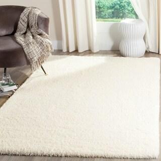 Safavieh Reno Shag Cream Polyester Rug (4' x 6')