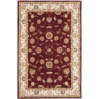 Safavieh Hand-hooked Total Perform Red/ Ivory Acrylic Rug - 6' x 9'