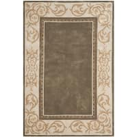Safavieh Hand-hooked Total Perform Olive/ Ivory Acrylic Rug - 6' x 9'