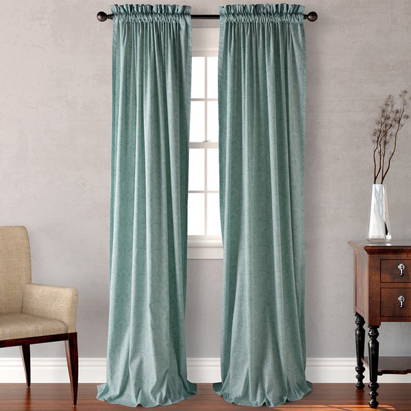 Tommy Bahama Damask Tropical Curtain Panel Pair 52 X 96