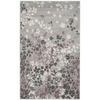 Safavieh Adirondack Vintage Floral Light Grey / Purple Rug (2'6 x 4')