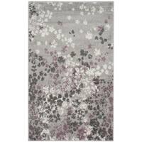 Safavieh Adirondack Vintage Floral Light Grey / Purple Rug - 2'6 x 4'