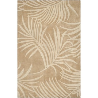 Safavieh Hand-hooked Total Perform Beige Acrylic Rug (6' x 9')